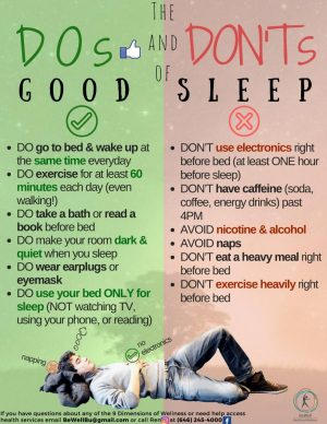New dos and donts sleep